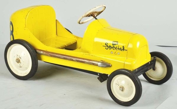 847: Pressed Steel BMC 8-Ball Special Racer Pedal Car.