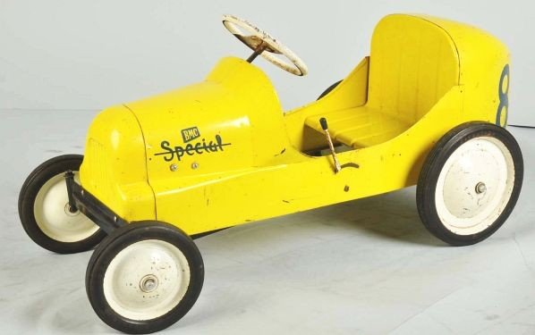 847: Pressed Steel BMC 8-Ball Special Racer Pedal Car. - 2
