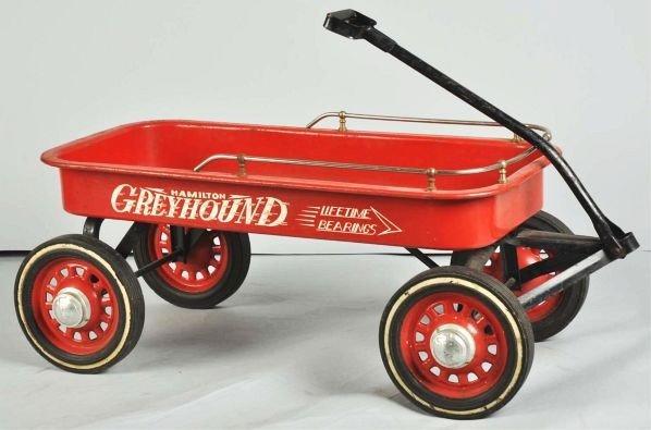 860: Hamilton Greyhound Wagon Pedal Toy.