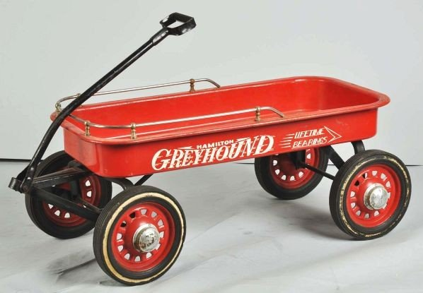 860: Hamilton Greyhound Wagon Pedal Toy. - 2