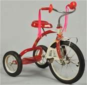880: Pressed Steel Hedstrom Tricycle Toy.