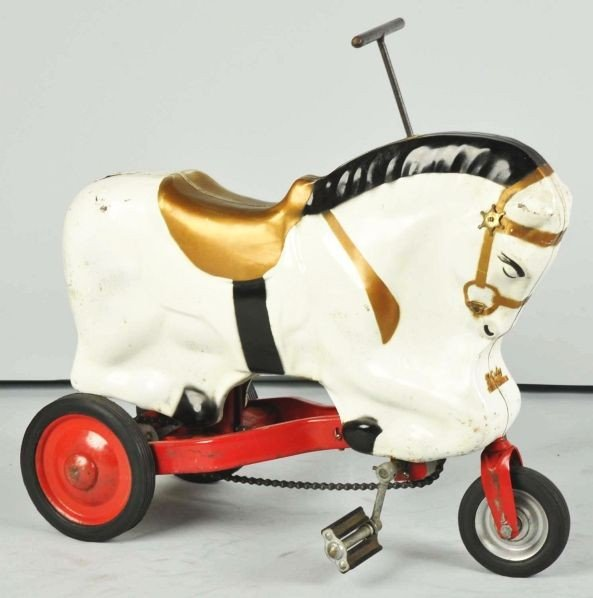 881: Pressed Steel McCauley Pony Cycle Toy.