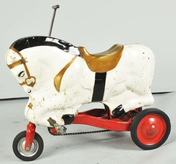 881: Pressed Steel McCauley Pony Cycle Toy. - 2