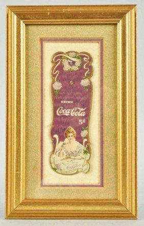 1000: Embossed Cardboard Coca-Cola Bookmark.