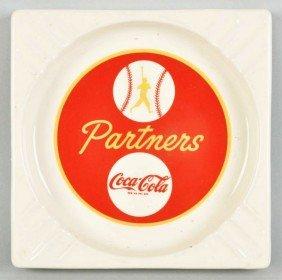 1005: Ceramic Coca-Cola Partners Ashtray.