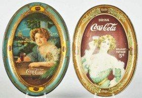 1012: 1907 & 1909 Coca-Cola Change Trays.