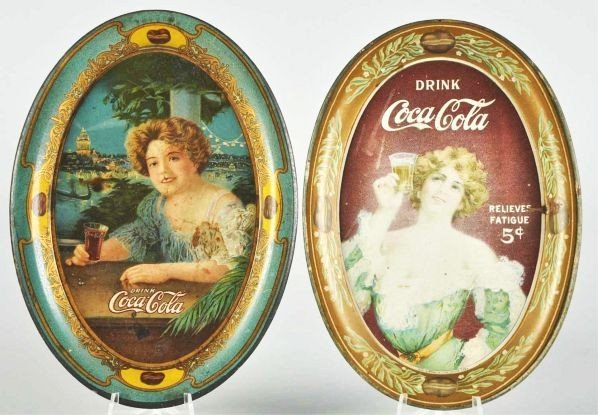 1012: 1907 & 1909 Coca-Cola Change Trays.