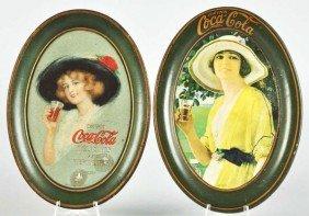 1913 & 1920 Coca-Cola Change Trays.