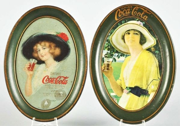 1013: 1913 & 1920 Coca-Cola Change Trays.