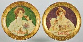 1014: 1903 & 1906 Coca-Cola Change Trays.