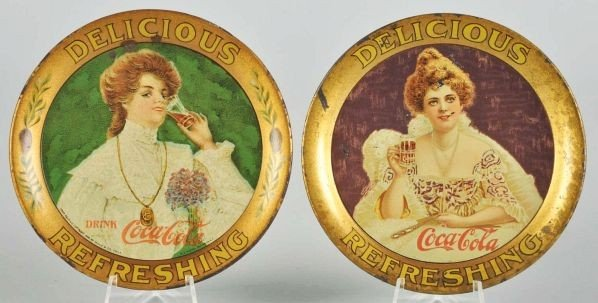 1014: 1903 & 1906 Coca-Cola Change Trays.