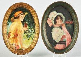 1015: 1914 & 1916 Coca-Cola Change Trays.