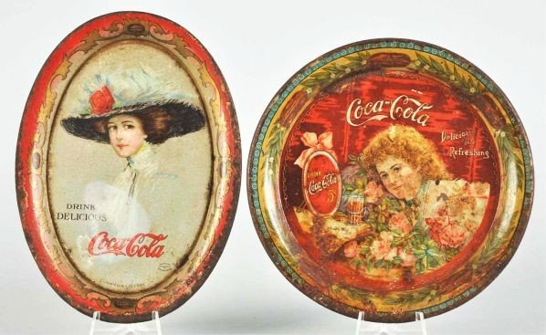 1016: 1901 & 1910 Coca-Cola Change Trays.