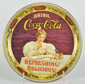 1017: Impressive 1900 Coca-Cola Serving Tray.