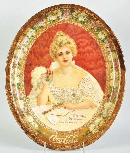 1018: 1903 Large Oval Coca-Cola Serving Tray.