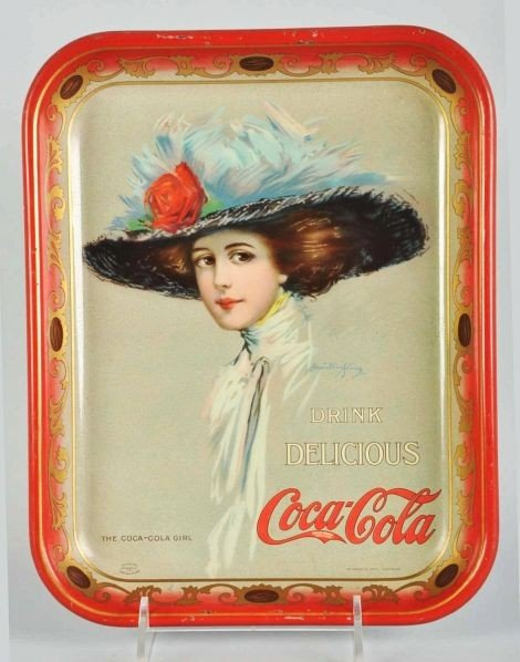 1023: 1910 Coca-Cola Serving Tray.