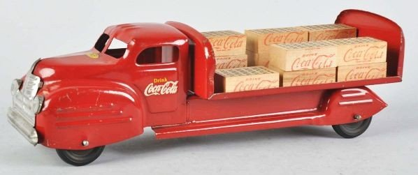 1115: Red Lincoln Coca-Cola Toy Truck. - 2