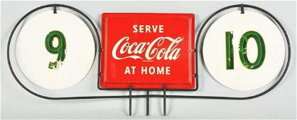 1234 Metal  Iron CocaCola Grocery Store Aisle Marker
