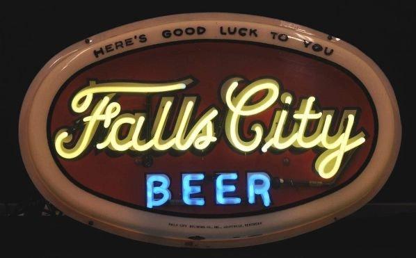 1620: Falls City Beer Neon Sign.