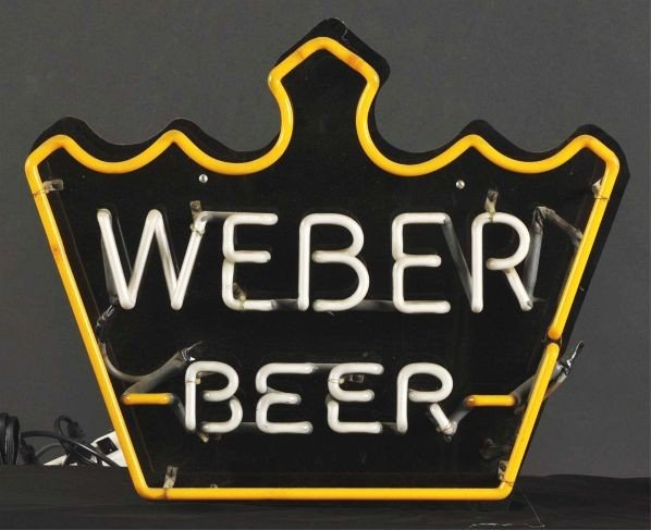 1630: Weber Beer Crown Neon Sign. - 2