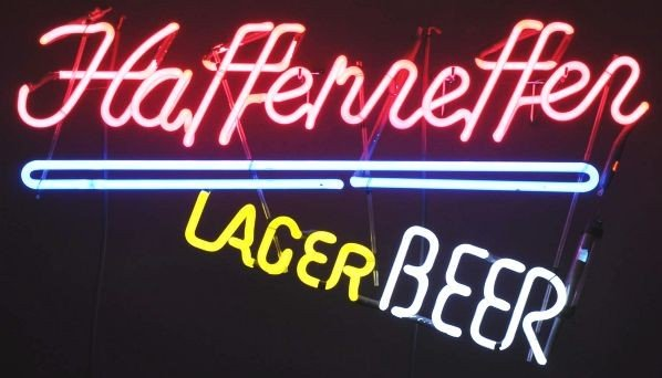 1673: Haffenreffer Beer Neon Sign.