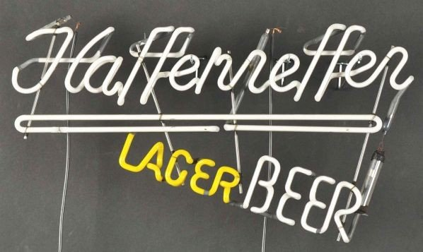 1673: Haffenreffer Beer Neon Sign. - 2