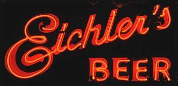 1763: Porcleain Eichler's Double-Sided Sign.