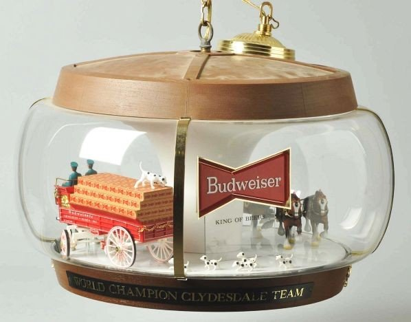 Budweiser Clydesdale Team Hanging Globe Lamp.