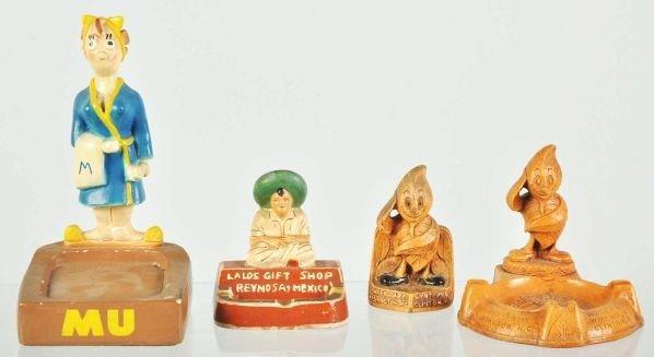1901: Lot of 4: Figural Ashtrays.