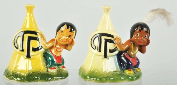1902: Lot of 2: Ceramic Thompson Products Banks.