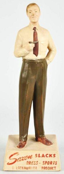 1906: Hard Rubber Saxon Slacks Statue.
