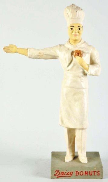 1909: Paper Mache Daisy Doughnuts Statue.