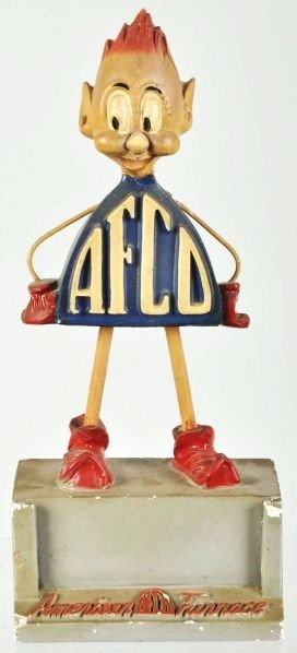 1914: Plaster American Furnace Company B.T.Ude Statue.