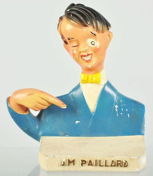 1918: Plaster European J.M. Paillard Statue.