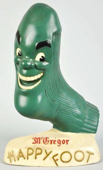 1923: Hard Rubber McGregor Happy Foot Display.