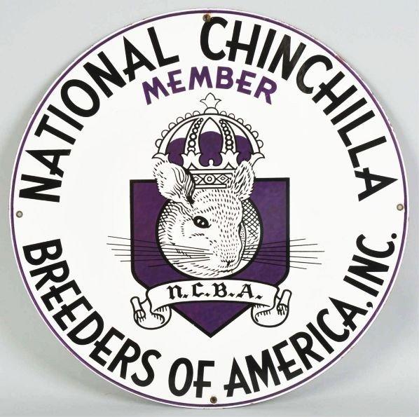 2327: Round Porcelain National Chinchilla Sign.