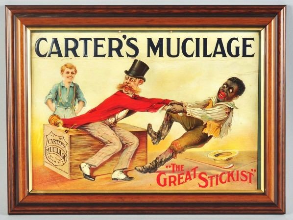 2352: Tin Carter's Mucilage Glue Advertising Sign.