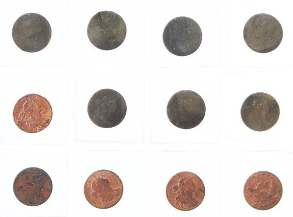 4: Lot of 11: Early Large Cent Coins.