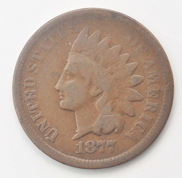 9: 1877 Indian Head Penny VG.