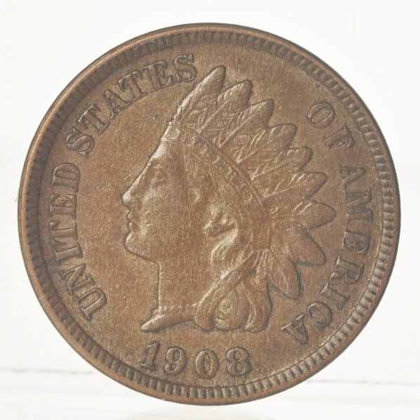 10: 1908-S Indian Head Cent BU.