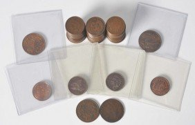 11: Lot of 58: Indian Head Pennies.