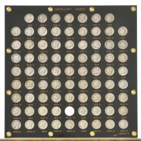 18: Complete 1916 - 1945 Mercury Dime Collection.