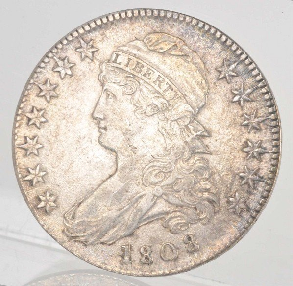 21: 1808 Capped Bust Half Dollar.