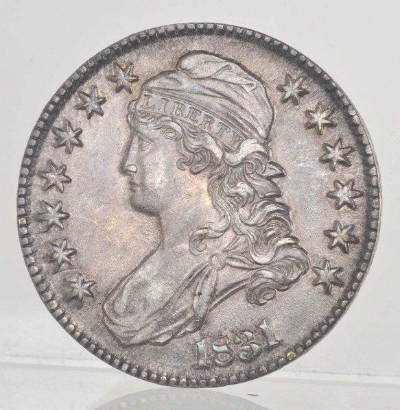 22: 1831 Capped Bust Half Dollar Coin.