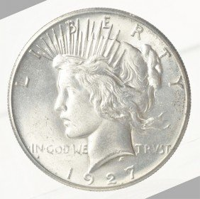 Lot Of 4: Peace Dollars BU.