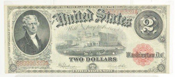127: $2 US Note 1917 AU.