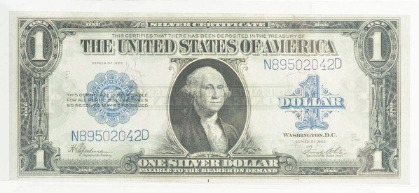 132: Lot of 3: 1923 $1 Silver Certificates.