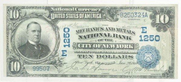 134: 1902 Date Back $10 Currency Note.