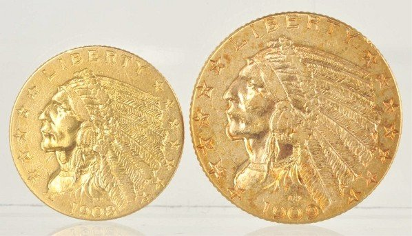 139: Lot of 2: Gold Coins.