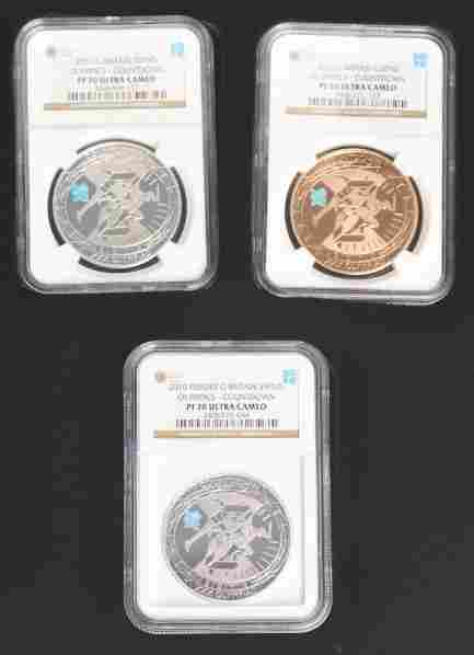 2010 London Olympic Countdown Coin Set.